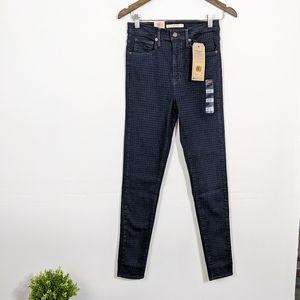 Levi's Houndstooth Mile High Super Skinny Jeans